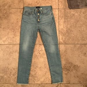 "J. Crew 9"" High-rise Eco Toothpick Jean"